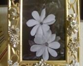 Vintage Jewelry Embellished Wedding Photo Frame by Kay Creatives