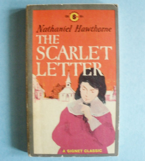 Scarlet Letter Cover: Items Similar To The Scarlet Letter Book On Etsy
