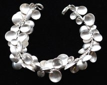 Hand Fabricated Silver Disc Bracelet
