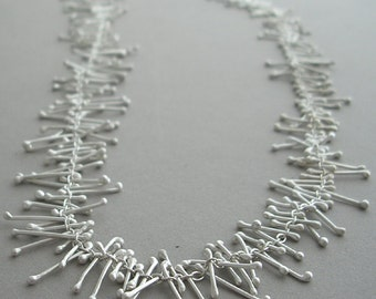 Fused Silver Stem Necklace//Fused Silver//Modern Jewelry// by Carla Pennie McBride