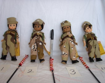 "Madame Alexander ""Welcome Home"" Desert Storm 1991 Collection,vintage 8 inch dolls, patriotic dolls, military dolls, Desert Storm dolls"
