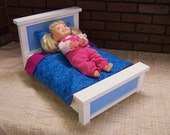 "18"" Doll Furniture Country Bed w/ Bedding"