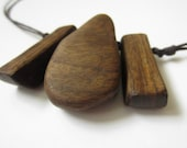 Chunky Wooden Nursing Necklace - Dark Brown Wooden Necklace
