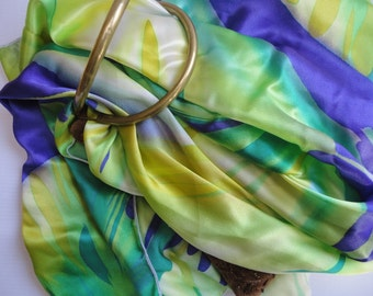 Silk Square Scarf, Wraps and Shawls, Outfit Multicolor. Mom Gift