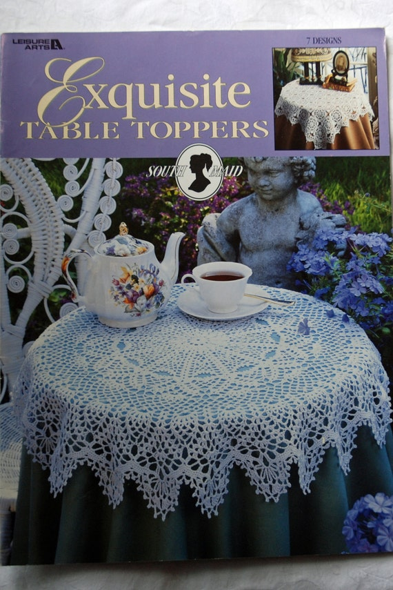 Crochet Pattern Leaflet - Lace Table Cloths/ Table Toppers