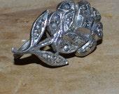 Elegant vintage art deco 20s sterling rose earrings