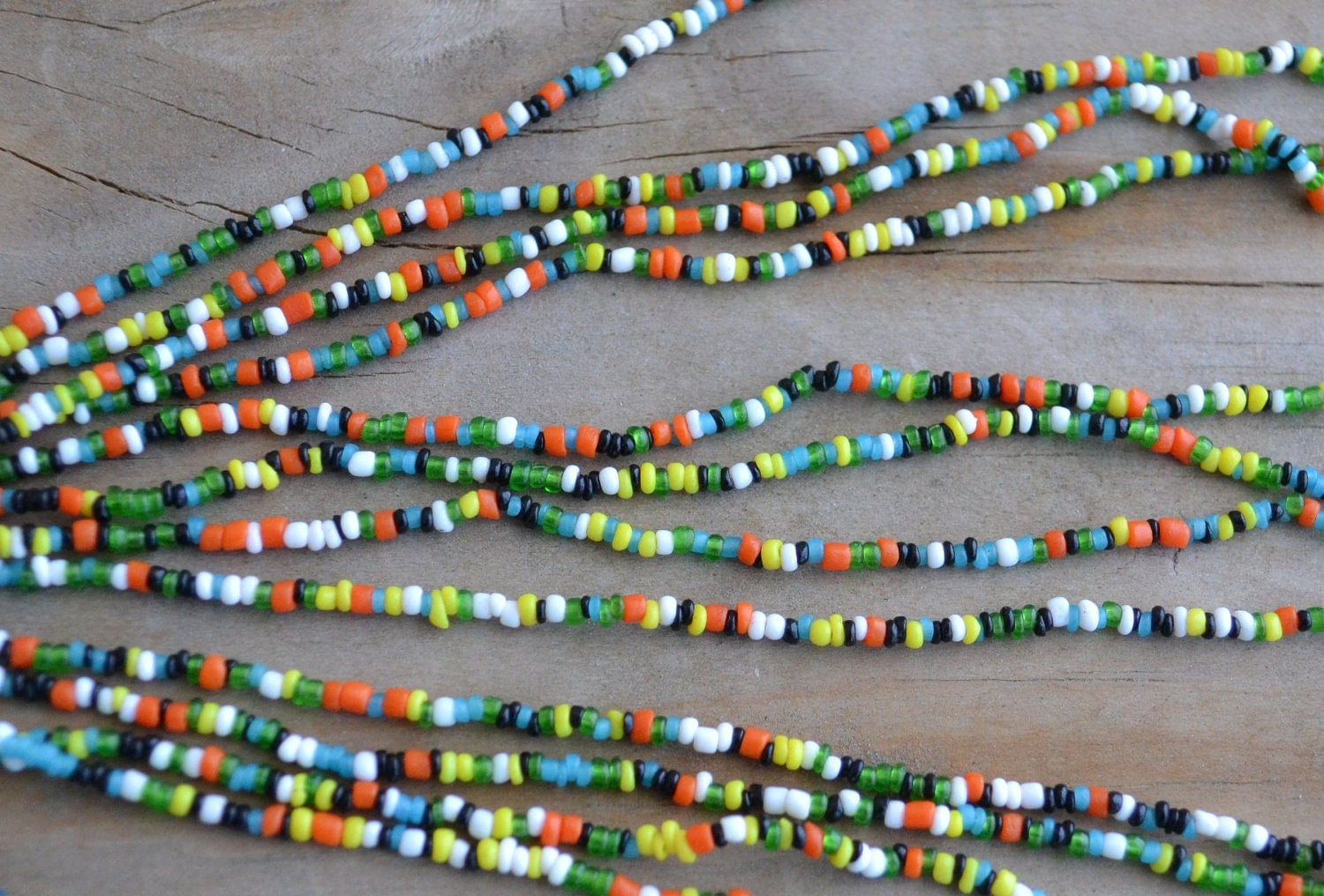 Hold For Annegenuine 60s Hippie Beads Seed Beaded Necklaces