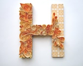 Monogram Quilled Letter