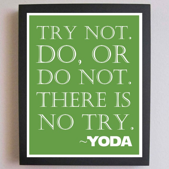Yoda Quote Try Not: Star Wars Nursery Art Print Star Wars Decor By