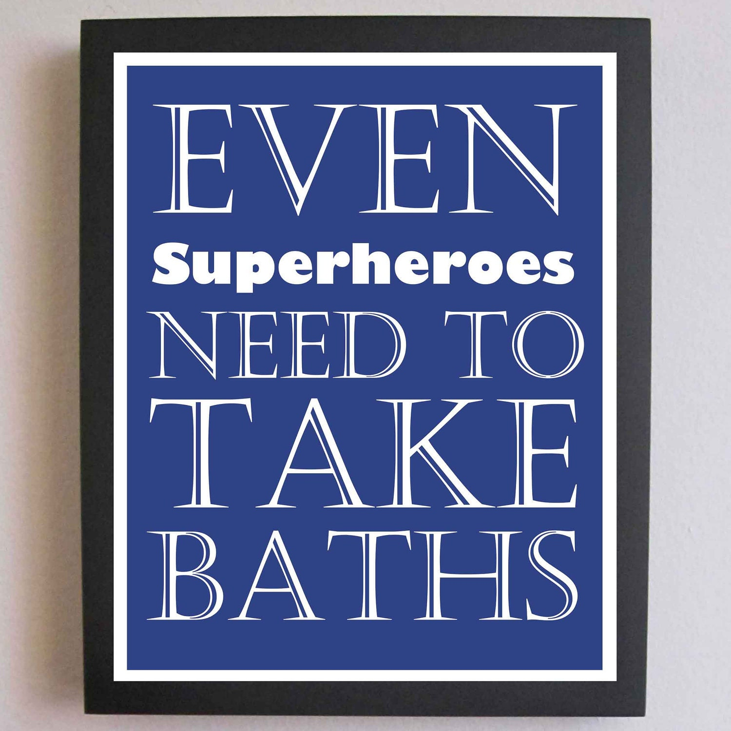 nursery art superhero print take a bath by fittoprintdesigns