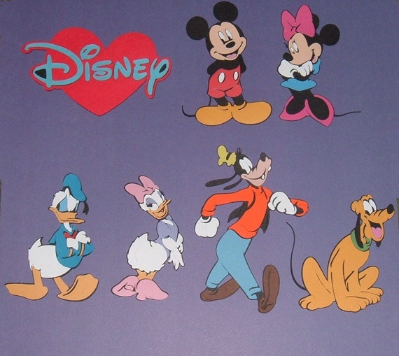 "Cricut Scrapbooking Die Cuts ""Mickey and Friends"""