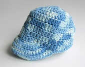 Blue  Baby Baseball Cap Boy Cotton Cap Infant Girl Summer Clothing  6 To 12 Months  Spring Newsboy