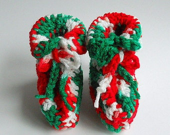 Christmas Baby Booties  0 To 3 Months  Newborn  Slippers Boy Holiday Crib Shoes Green White Red Infant Girl  Pregnancy Reveal  Announcement