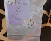Mr. & Mrs. wedding card, anniversary card