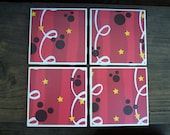 Disney Magic coasters - Set of 4 - FREE Shipping - Disney, Mickey Mouse, Home Decor