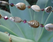 Natural stone jewelry set