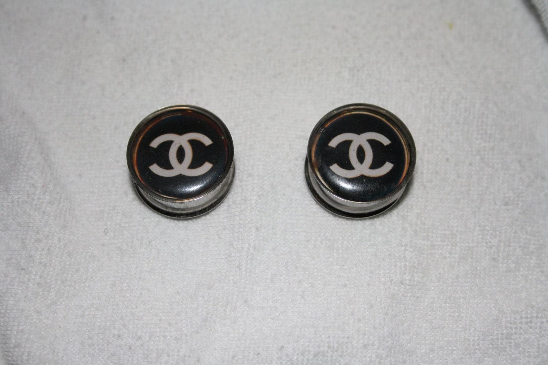 Custom Faux Chanel Ear Stretchers plugs
