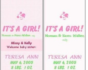 "Candy Wrapper Announcement-""It's a Boy/Girl""-Mini Hershey's"