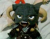 Skyrim Inspired Dovahkiin Dragonborn Felt Plush Plushie Doll