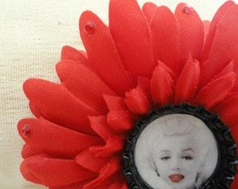 Marilyn Monroe Flower Clip