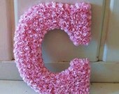 Flower Covered Initial Letter -- Perfect for Monogram or Wedding