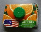 Orange Juice upcycled wallet