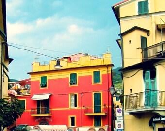 Ristorante - Monterosso al Mare, Cinque Terre, Liguria, Italy - Travel Photography Print 4x5