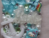 SALE Barbie and my little pony mixed sea nautical colour ligh up LED compact mirror, anchor hello kitty dash, bow glitter gems pearls