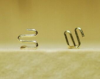 Post earrings, earring gold, 14K gold filled, gold earrings, everyday earrings, gold fill