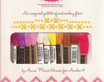 """Anna Maria Horner EMBROIDERY FLOSS """"Radiant"""" Palette (see project idea)"""