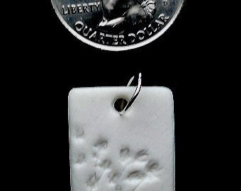 Forest Life Series - AA symbol Porcelain Pendant with Organza Ribbon.