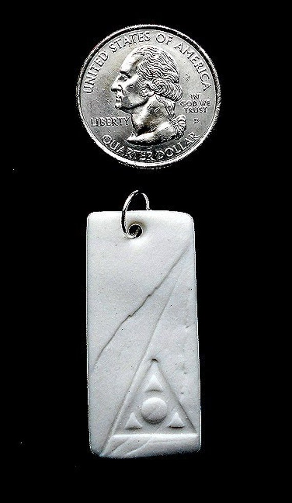 Forest Life Series - Al-anon Porcelain Pendant with Organza Ribbon.