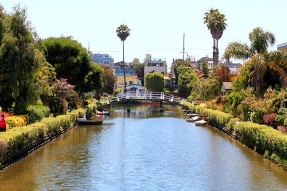 Venice Canals Photo Print - Size 8x10, 5x7, or 4x6