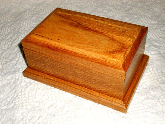 Wood Box - A Wooden White Oak Keepsake Box