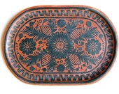 Mexican Carved and Lacquered Platter
