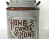 Home Sweet Home Ceramic Jar with Lid