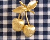 Vintage Cherry Pin by Sarah Coventry