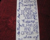 Names of Jesus Bookmark Purple