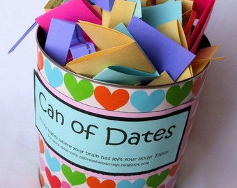 Can of Dates PDF file ONLY, Instant Download