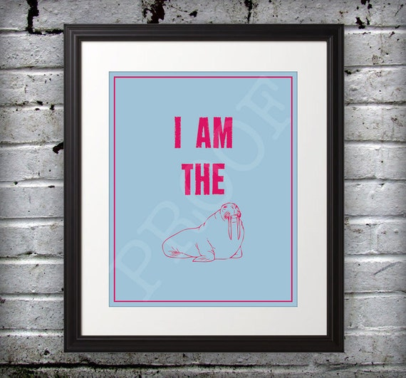 Beatles inspired - I Am The Walrus - 11x14 Print
