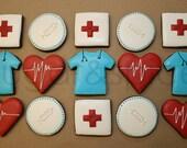 Medical theme cookies - 12 rolled sugar cookies