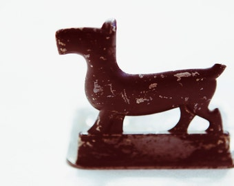 lil' black scottie dog doorstop and bookend - unique vintage bookend or doorstop