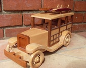 Woodie Car with Surfboards Handmade