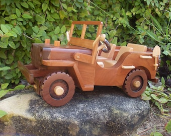 Jeep Willy's WWII Handmade Woodwork