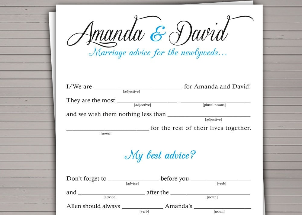 Printable wedding mad lib guest book alternative diy for Guest libs wedding edition template