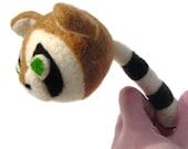 Cute Needle Felted Raccoon Ball Toy
