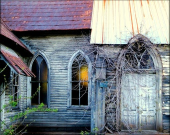 Old Abandoned Church 2 - Fine Art Photography - 8 X 10 Print - Home Decor