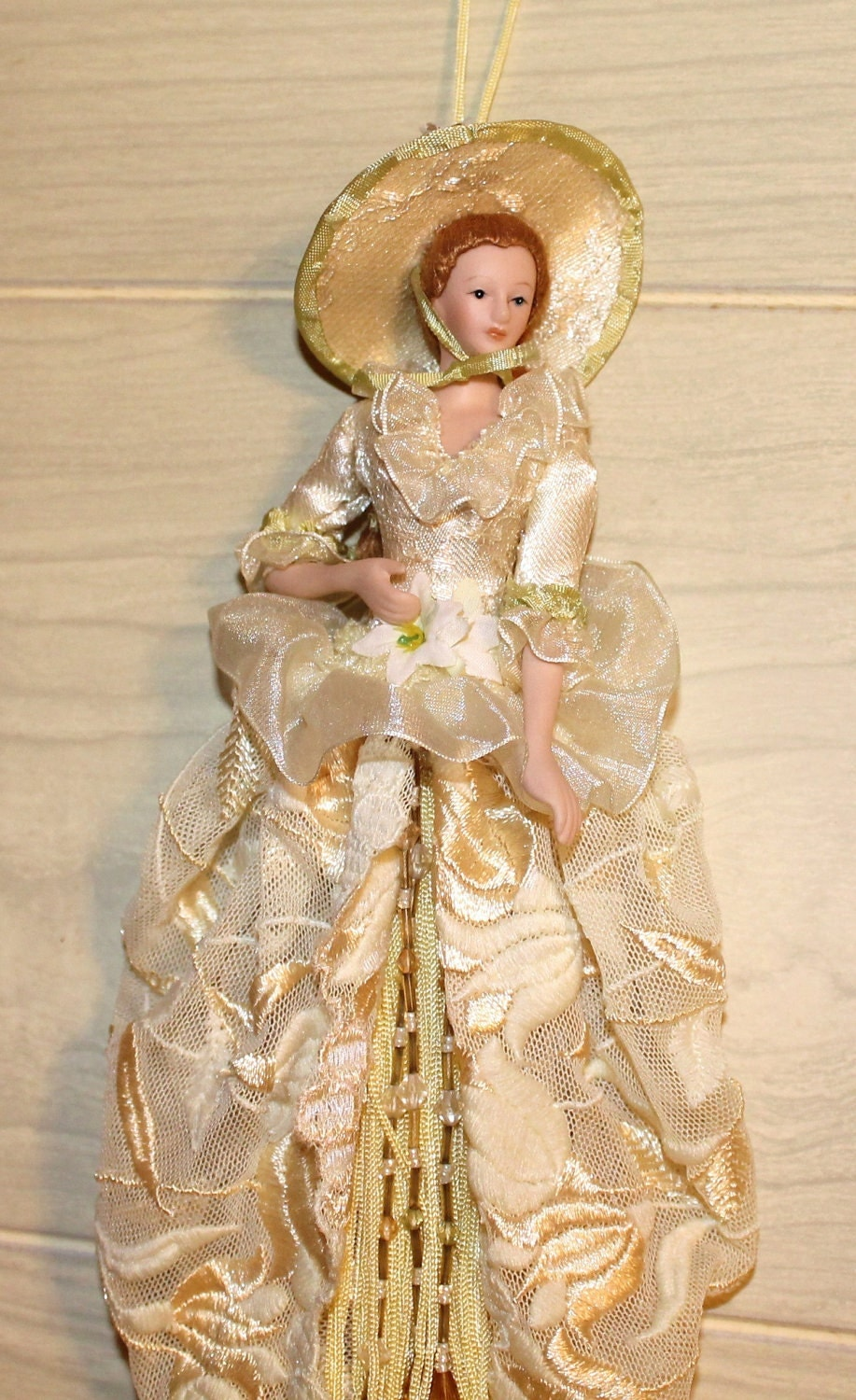 Unique Vintage Hanging Porcelain Doll Collectible Home