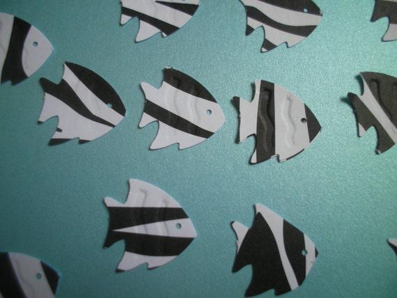 Items Similar To 25 Zebra Fish Die Cut On Etsy