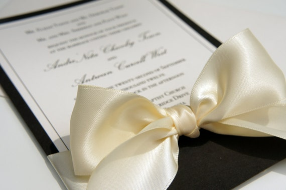 "Traditional Elegant Wedding Invitations: Items Similar To Elegant ""Black Tie Affair"" Wedding"